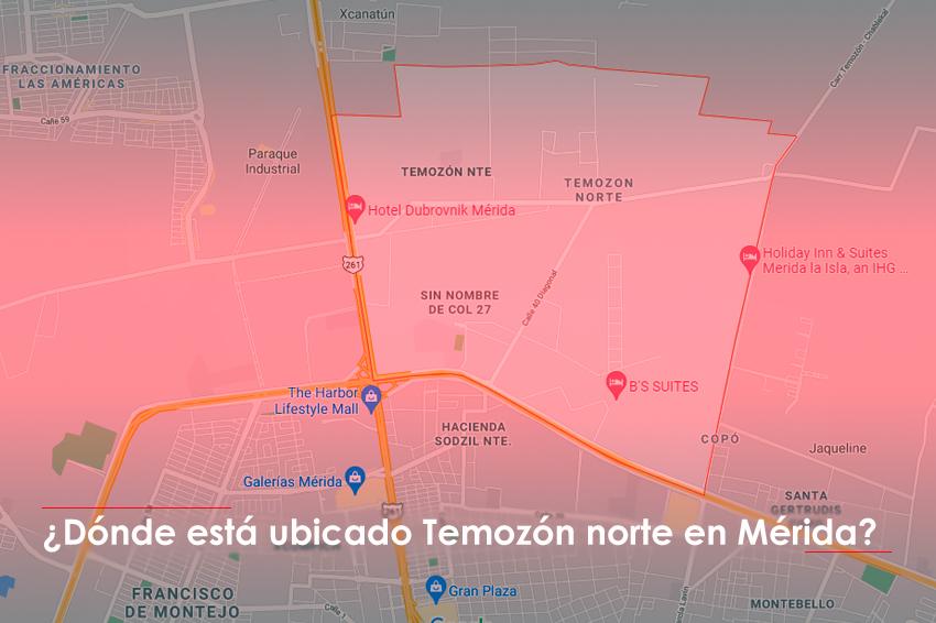 ¿Dónde está ubicado Temozón norte en Mérida?
